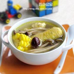 茶树菇玉米鸡汤的做法[图]