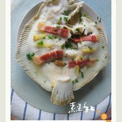 火腿清蒸多宝鱼的做法[图]