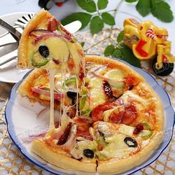 培根烤蘑菇披萨的做法[图]