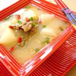 白萝卜煲鸭架汤的做法[图]