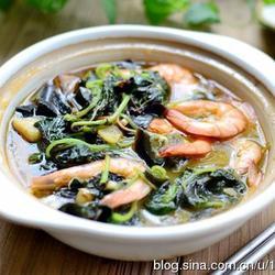鮮蝦皮蛋莧菜煲的做法[圖]