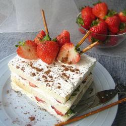 奶油草莓土司塔的做法[圖]
