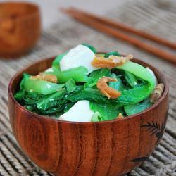 小白菜海米炖豆腐的做法[图]