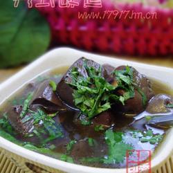 香菜猪血汤的做法[图]