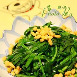 松仁炒韭菜的做法[圖]