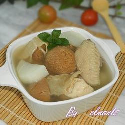 猴头菇鱼肚鸡汤的做法[图]