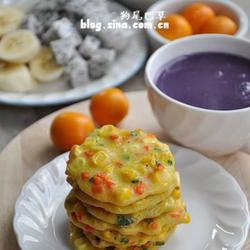 胡萝卜玉米小蛋饼的做法[图]