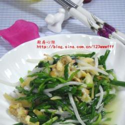 韭菜豆芽爆炒蛤蜊的做法[图]