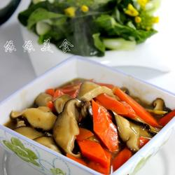 蚝香胡萝卜鲜菇片的做法[图]