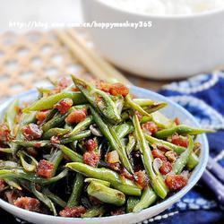 腊肠丁炒四季豆的做法[图]