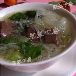 菜苗粉丝鸡血汤的做法[图]