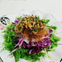 蒜茸苦菊拌晶粉的做法[图]