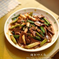 大蒜炒猪肝的做法[图]