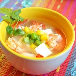 虾仁三色汤的做法[图]