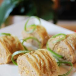 豆腐皮蒸肉卷的做法[圖]
