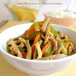 青椒豆干炒牛肉丝的做法[图]