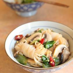 鲜菇油菜炒魔芋结的做法[图]
