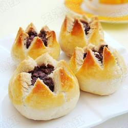 莲花豆沙酥的做法[图]