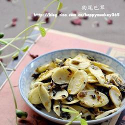 酸腌菜炒茭白的做法[图]