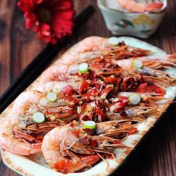 鲜辣粉丝蒸海虾的做法[图]