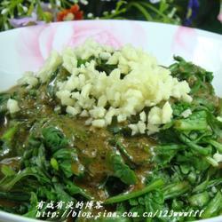 芝麻酱拌茼蒿叶的做法[图]
