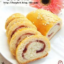 藍莓果醬面包卷的做法[圖]
