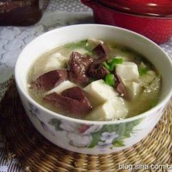 豆腐猪血汤的做法[图]