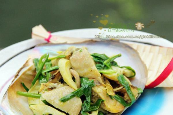 韭菜春笋炒蚌肉