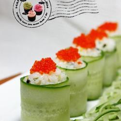鱼籽青瓜寿司的做法[图]