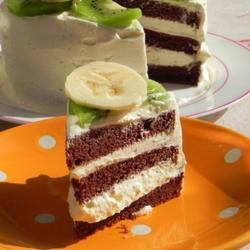 可可榛子奶油戚風蛋糕的做法[圖]
