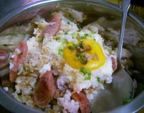 腊肠窝蛋饭[图]