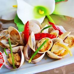 葱姜辣炒蛤蜊的做法[图]