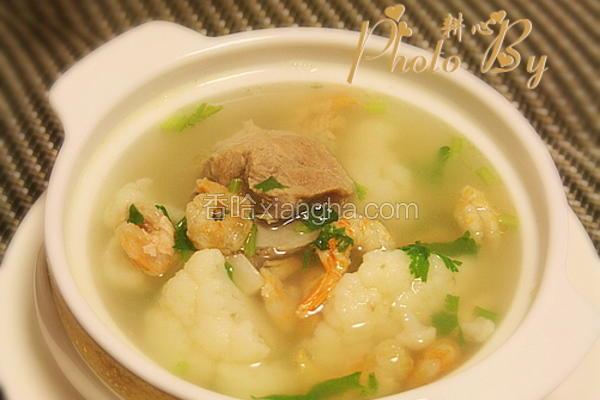 菜花虾米排骨汤