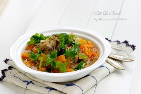 番薯肥牛汤的做法