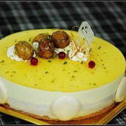 百香果栗子慕斯蛋糕的做法[图]