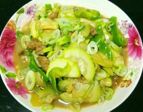 西葫芦炒肉[图]