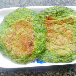芹菜叶鸡蛋面饼