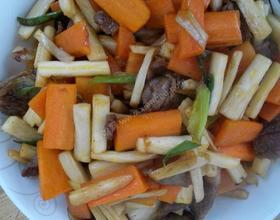 肉片炒时蔬