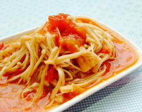 番茄烩金针菇[图]