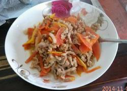 红萝卜肉丝