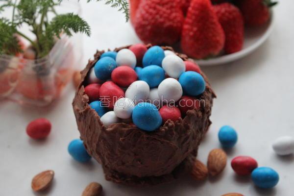 巧克力碗的做法