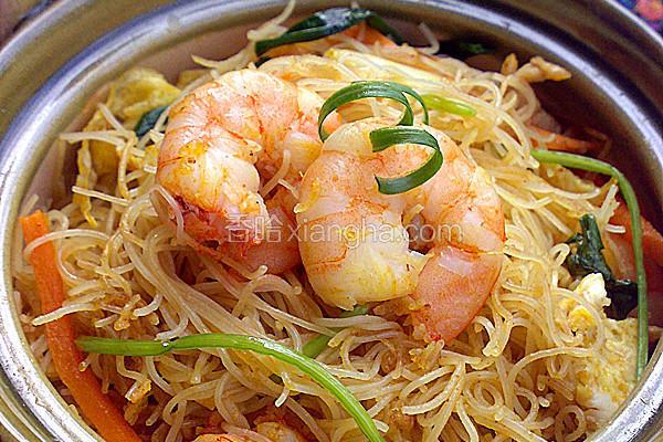 咖喱虾仁炒米粉