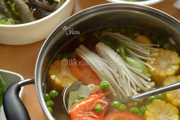 鲜虾豆腐火锅