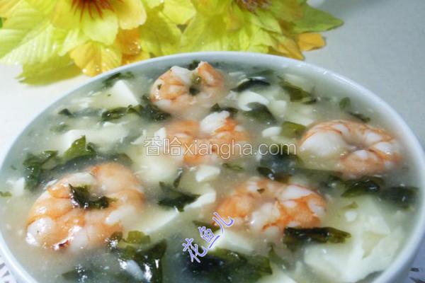 紫菜虾仁豆腐羹