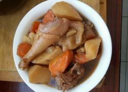 山药胡萝卜炖柴鸡