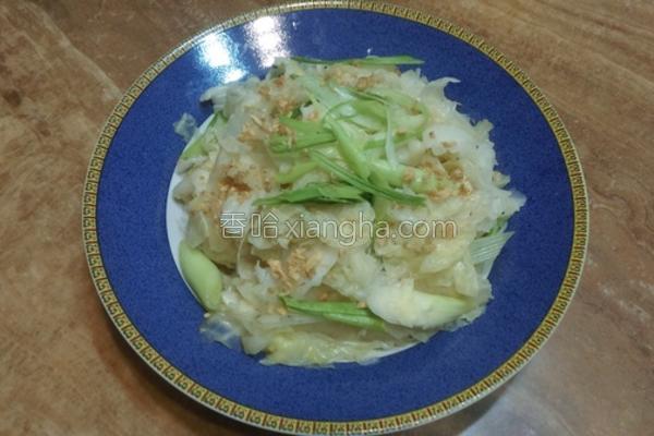 三蒜高丽菜的做法