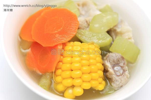 大黄瓜炖软骨汤的做法