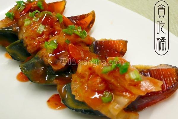 酸甜泡菜开胃皮蛋的做法