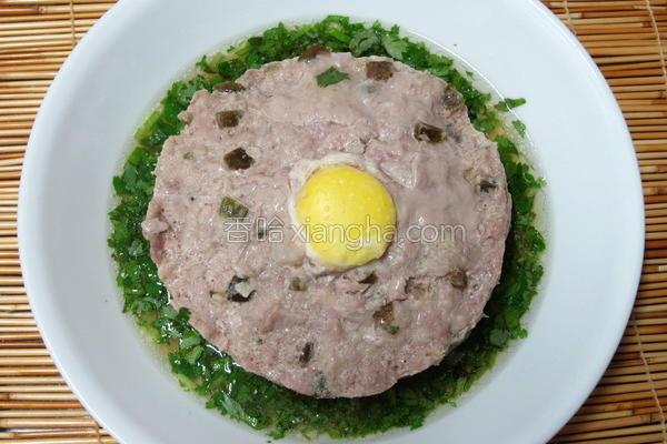 脆瓜蒸肉饼的做法
