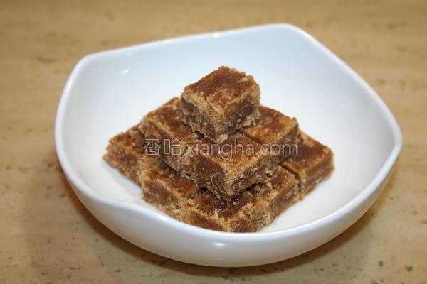 黑糖生姜块的做法